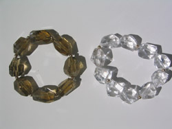 Avenue large  stones with Gold Vermille, bracelets