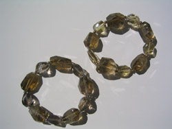 Avenue plain cut stones, two sizes, bracelets