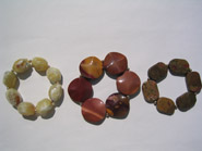 Avenue oganic cut stones with SS, bracelets