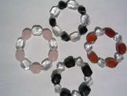 Avenue two tone and clear Qtz bracelets