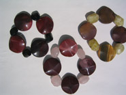 Avenue two tone and Mookaite bracelets