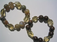 Avenue two stone with lemon Qtz bracelets